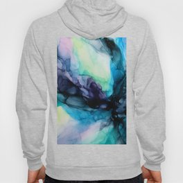 Sweet Pea Pastel Abstract Chaos | Calming Fluid Art Hoody