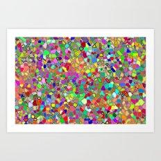 Mosaic fantasy Art Print