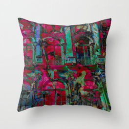 Psychedelic windows Throw Pillow