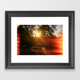 Love From Sunrise till Sunset Framed Art Print