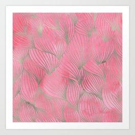 Pretty Pink Palm Petal Print Art Print