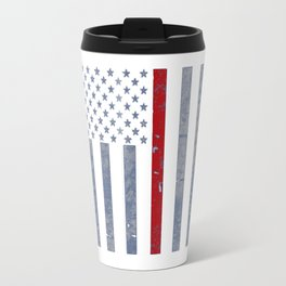 Thin Red Line Flag Travel Mug