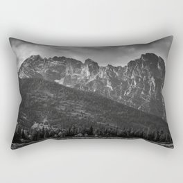 Mountain Landscape in Black and White Rectangular Pillow