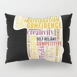Life Path 1 (black background) Pillow Sham