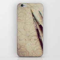 journey iPhone & iPod Skins featuring Journey by messy bed studio