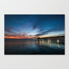 Newport Beach Sunet. Canvas Print