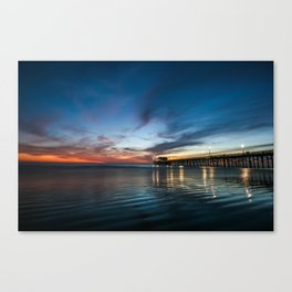 Newport Beach Sunet. Canvas Print