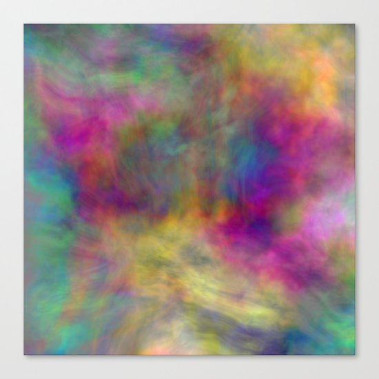 rainbow clouds Canvas Print