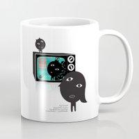 tv Mugs featuring TV by BUBUBABA
