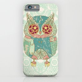 Steampunk owl iPhone Case