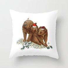 christmas bears Throw Pillow