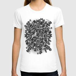 For Good For Evil - Black on White T-shirt