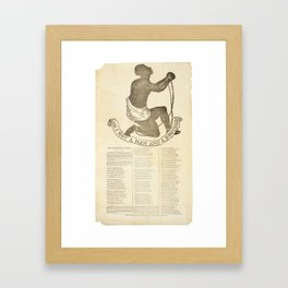 Am I Not a Man and a Brother? Circa 1837 Framed Art Print