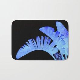 Neon Glow Tropical Palm Fronds Bath Mat