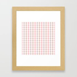 Geometric Multi Droplets Pattern - Summer Pastels - Pink Blue Green White Framed Art Print