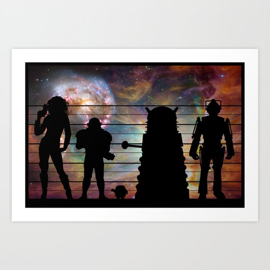 Doctor Who: The Whovian Suspects Art Print