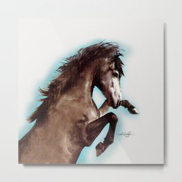 Brown Horse by kathy Morton Stanion Metal Print