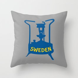 Sweden | Brass Pressure Stove Throw Pillow
