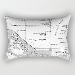 Vintage Map of Turks and Caicos & Bahamas Rectangular Pillow