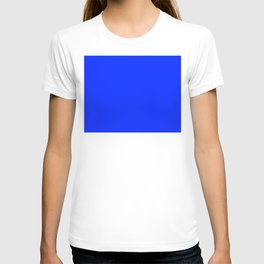The Future Is Bright Blue - Solid Color - Jewel Tone T-shirt