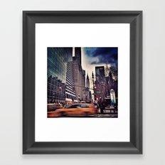New York Streets 1 Framed Art Print