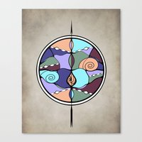 compass Canvas Prints featuring Compass by DebS Digs Photo Art