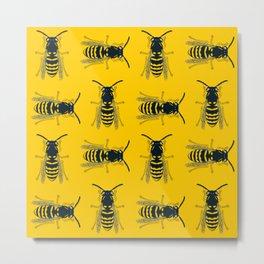Bee's Yellow Metal Print