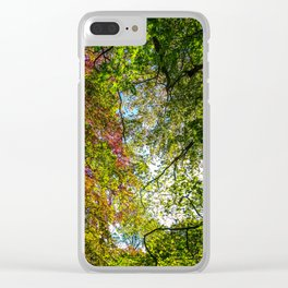 Tree Leafs. Clear iPhone Case
