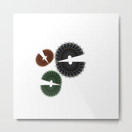 Abstract Chomp Metal Print