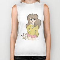 bee and puppycat Biker Tanks featuring Bee and Puppycat by Lyndie Witt