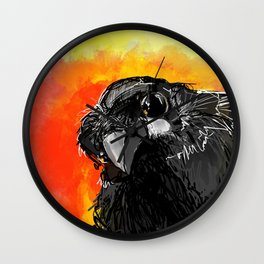Curious Crow Wall Clock