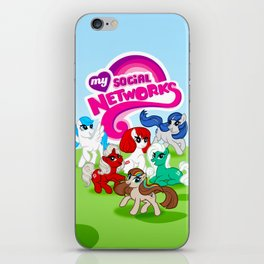 My Social Networks - My Little Pony Parody iPhone Skin