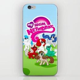 My Social Networks - My Little Pony Parody iPhone Skin