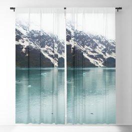Hubbard Glacier Snowy Mountains Alaska Wilderness Blackout Curtain