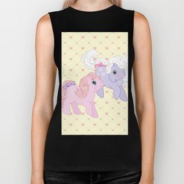 g1 my little pony babies Cotton Candy and Blossom Biker Tank
