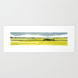 Canola Prairie Art Print