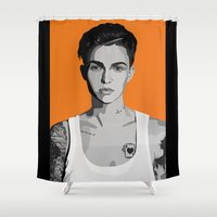 oitnb Shower Curtains featuring Stella Carlin by Grace Teaney Art