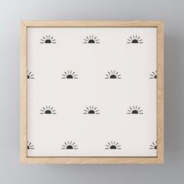 Modern Sunrise Framed Mini Art Print