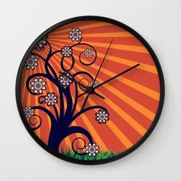 Quirky Blossom Tree Wall Clock