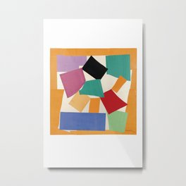 Matisse the snail print, The cut out shape, Colorful wall art, Abstract wall art, Home interior, Large scale art, Above bed decor Metal Print