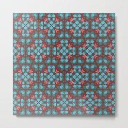 Abstract flower pattern 6b Metal Print