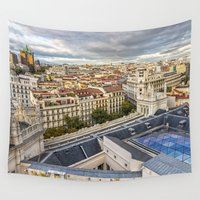 madrid Wall Tapestries featuring Madrid by Solar Designs