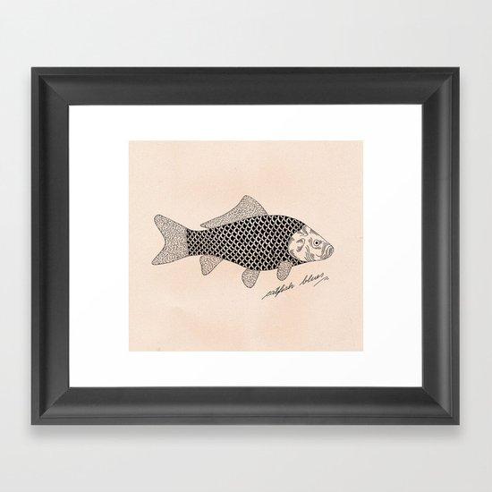 Catfish blues Framed Art Print