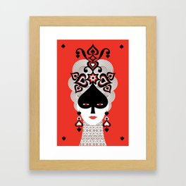 The Queen of spades Framed Art Print