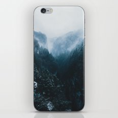Foggy Forest Mountain Valley - Landscape Photography iPhone & iPod Skin