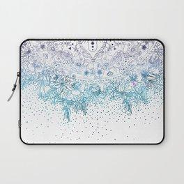 Elegant floral mandala and confetti image Laptop Sleeve