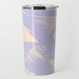 Modern lilac ivory violet geometrical shapes patterns Travel Mug