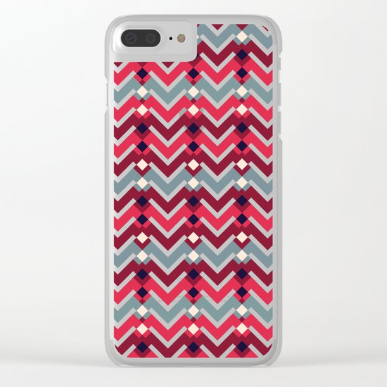 Fractal Mountains - candy Clear iPhone Case