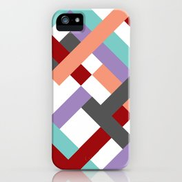 "Geometric Print ""Broken Weave"" iPhone Case"