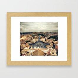 St. Peter's Square Framed Art Print